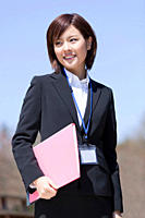 Businesswoman wearing a suit