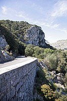 Cliff road on Mediterranean Coast (thumbnail)