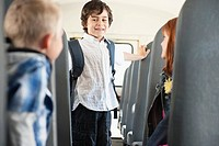 Children on school bus (thumbnail)