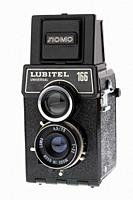 vintage lubitel 166 universal medium format film camera manufactured in the old soviet union