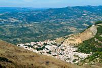 Cazorla from the viewpoint of the Collado de Zamora. Sierra de Cazorla, Segura and Las Viñas. Jaen. Andalusia. Spain. Europe.