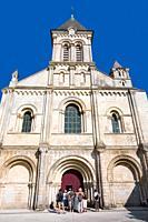 France, 85, Poitevin, Nieul on Autise: Romanesque abbey saint vincent