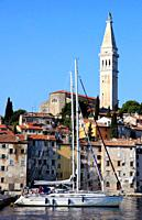 Croatia, Istria, Rovinj, skyline, St Euphemia´s Church,