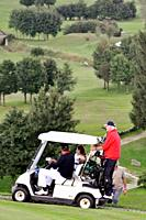 Asiago (Veneto, Italy): cart at the local Golf Course