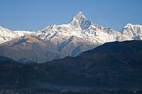 Mount Machhapuchhre, also known as Fishtail Mountain, is one of the most reknown mountains in the Himalayan mountain range Climbing on the mountain by...