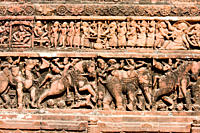 Terracotta plaque from Kantanagar Temple It is an eighteenth century brick temple, situated in the peaceful island hamlet of Kantanagar Kantanagar, ab...