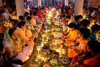 A scene from the Loknath temple in Dhaka, during the ritual of Rakher Upabas fast People from Hindu community observe this three day long ritual by li...