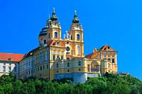 The Abbey of the Town Melk on the Danube River
