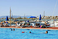 Holidays at Arenal, Club Nautic s Arenal, marina with swimming pool a little east of Palma de Mallorca, Majorca, Mallorca, Balearic Islands, Mediterra...