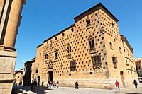 Salamanca, Salamanca Province, Spain  Casa de las Conchas, or House of the Shells  15th-16th century Gothic-Plateresque building now a public library