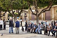 Man on the street, Gela, Sicily, Italy