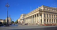 France, Bordeaux, Place de la Comedie, Grand Theatre