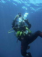 Diver taking a photo Sabang Philippines Taken 2007