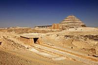 Ramp of Wenis at the step pyramid of Djoser, Saqqara, Egypt