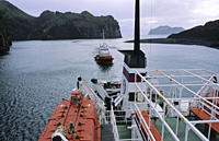 Entrance to the harbour of Heimaey Vestmannaeyjar Islands, Southern Iceland