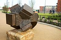 Sculpture by Charles Hadcock,Wigan Pier,England,UK