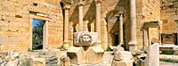 Gorgon head, Severan Forum, Leptis Magna, UNESCO World Heritage Site, Tripolitania, Libya, North Africa, Africa