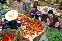 Market, Heho, Shan State, Myanmar Burma, Asia