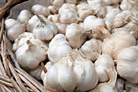 Garlic cloves in a basket