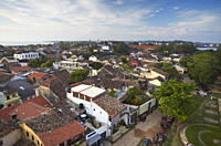 View of Old Town inside Galle Fort, UNESCO World Heritage Site, Galle, Sri Lanka, Asia