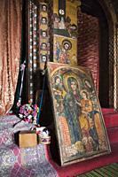 Debre Berhan Selassie Church in Gonder  The interior of the church is covered with paintings showing stories from the old and the new testament as wel...