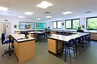 Emptu biology classroom at Portsmouth Grammar School New Science Block
