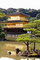 Kinkakuji Temple, The Golden Pavilion, Rokuon-ji temple, Kyoto, Japan.