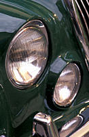 Car, Jaguar S_Type 3.4, vintage car, 1960s, sixties, dark_green, sedan, detail, details, headlights, headlight, headlamp, headlamps, technics, technic...