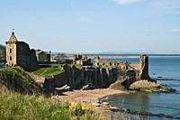 St Andrews castle former Bishops Palace ruins St Andrews castle ST ANDREWS FIFE