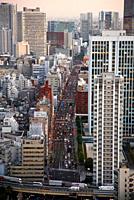 Minato-ku, City view from Tokyo Tower, Tokyo, Japan.