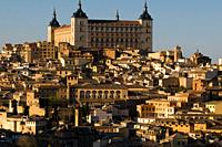 Todelo Alcazar and old city. Castile-La Mancha, Spain