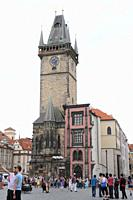 Old Town Hall's Tower, raised in 1338  Prague  Czech Republic