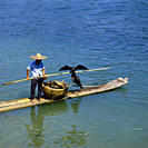 Cormorant fisherman on the Li River near the city of Guilin Kweilin