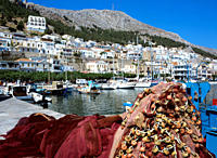 Kalymnos Town Colourful harbourside scene
