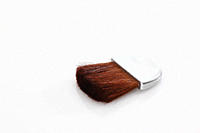 Blusher brush on white background