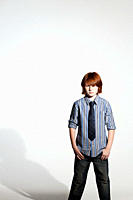 Boy in a shirt and tie (thumbnail)