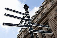 London signpost