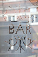 Bar window, London