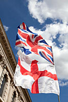 British and English flags, London (thumbnail)