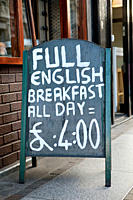 Full English breakfast sign