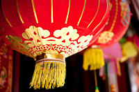 Lanterns in chinatown, London