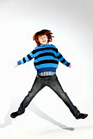 Boy jumping