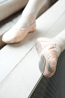 Feet of ballerina