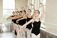 Ballerinas in pose