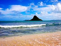 The island of Mokolii, Oahu, Hawaii