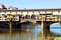 Ponte Vecchio, Arno River, Firenze, UNESCO WORLD Heritage Site, Tuscany, Italy