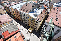 Austria, Tyrol, Innsbruck, Aerial view of city