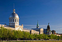 Bonsecours Market and Old Port of Montreal at Springtime, Montreal, Quebec, Canada