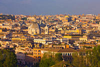 Overview of the historic center of Rome, Italy