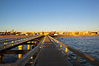 Africa, Namibia, Namib Desert, Swakopmund, View of jetty with atlantic ocean